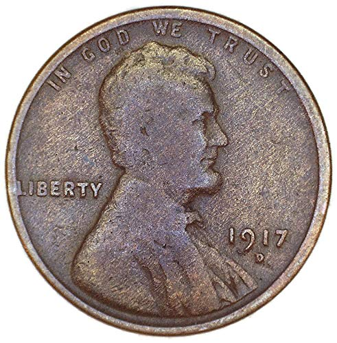 1917 D Woody Lincoln Wheat Cent Good