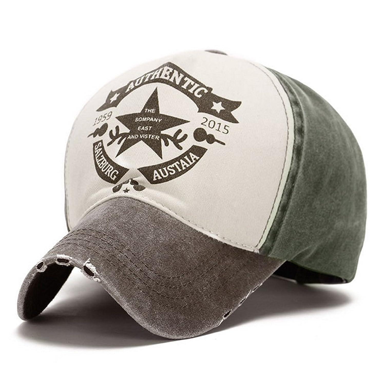 Deercon Men and Women Spring and Summer Sun Visor Cotton Color Base Cap Five - Star Hoist Hats