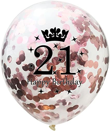 Amazon.com: gbell oro rosa confeti, globos de látex ...