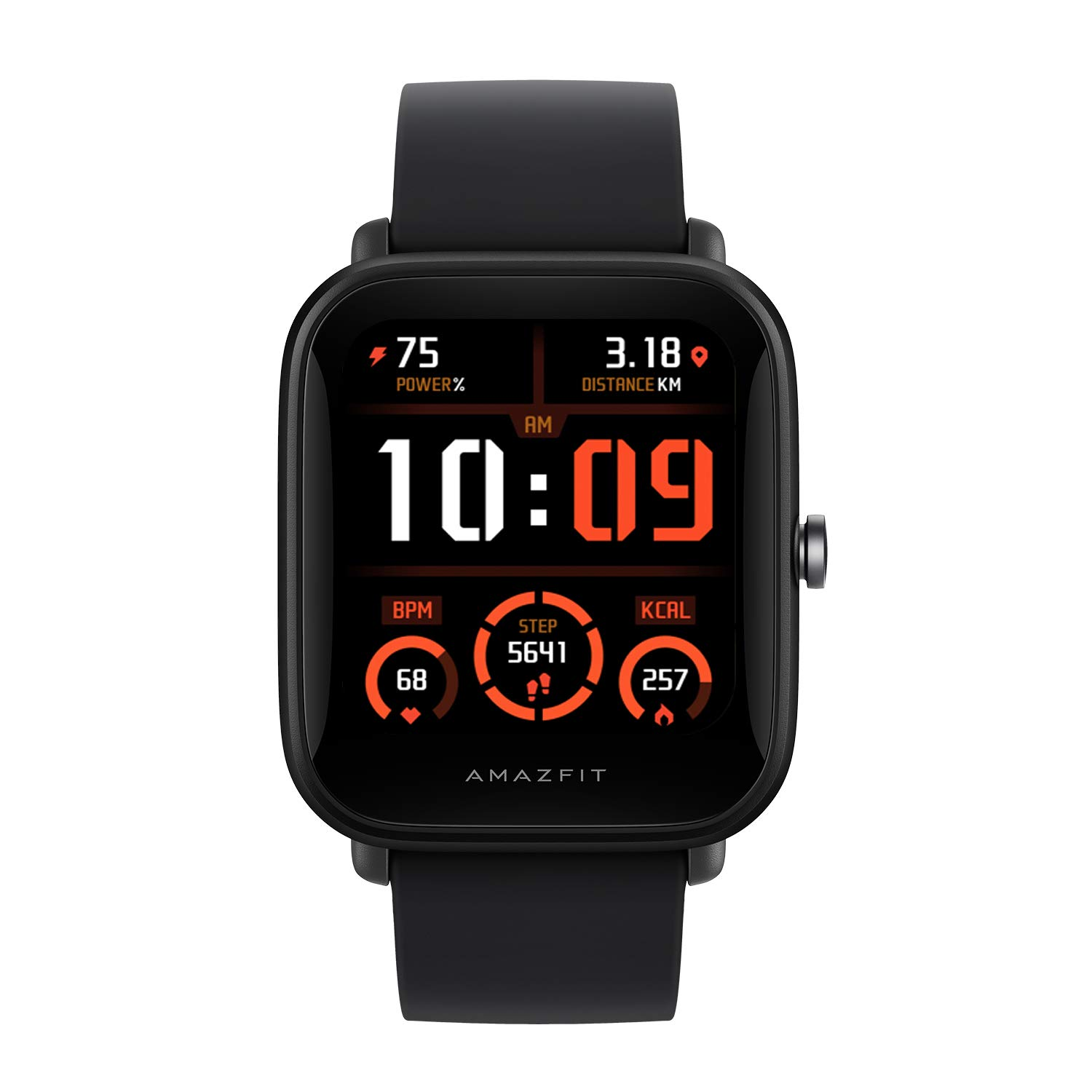 """Amazfit Bip U Pro NYSE Listed Smart Watch with SpO2, Built-in GPS, Electronic Compass, 60+ Sports Modes, 5ATM, Fitness Tracker, HR, Sleep, Stress Monitor, 1.43"""" Color Display (Black)"""