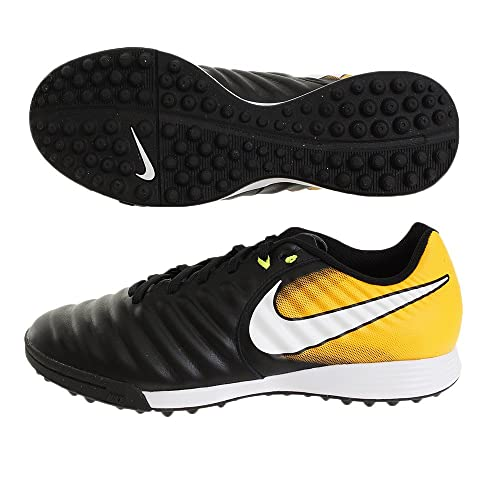 Nike - Chaussures En Cuir Noir Mens Futsal / Taille Laser Blanc-orange Volt: 40,5