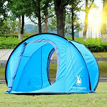 C&ing Hiking Easy Setup Outdoor Large Pop Up Tent Blue : easy to set up tents - memphite.com