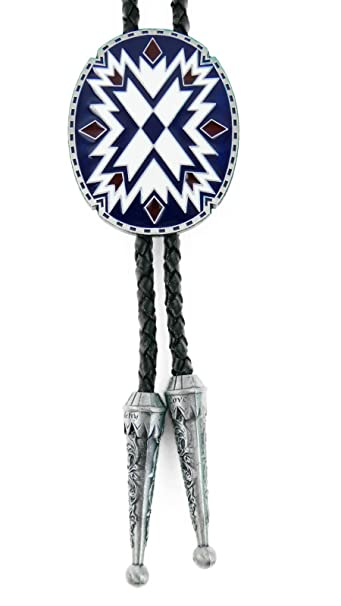 AW-Collection Bolo Tie Western corbata indianisches Ornament piel ...