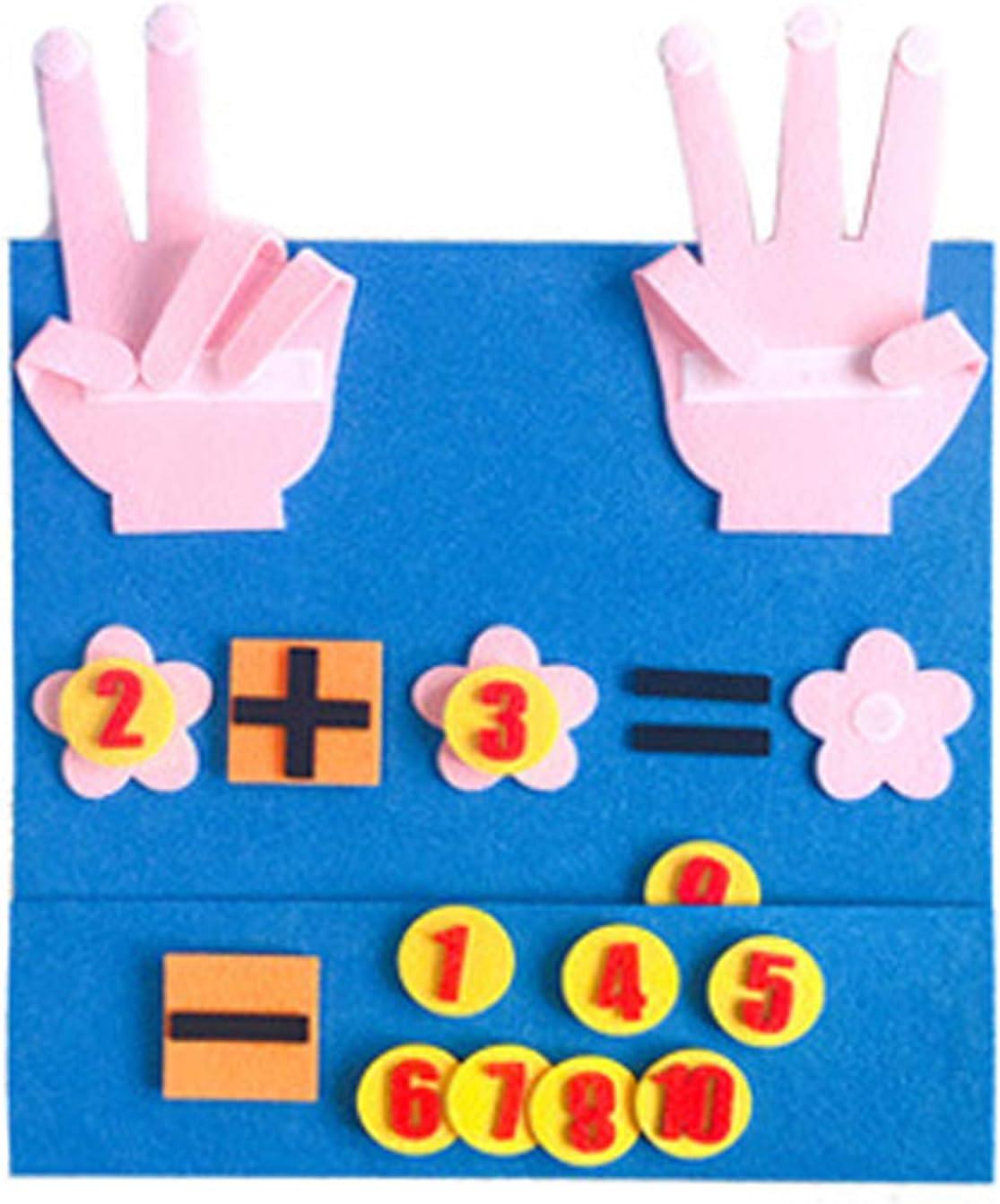 zhang Finger and Number Matching Toy 2 Sets Felt Finger Math Toys Kindergarten Family Education Math Toys-STEM Toy Education Math Counting Math Games-Finger Calculation Toy-Number Matching Toys