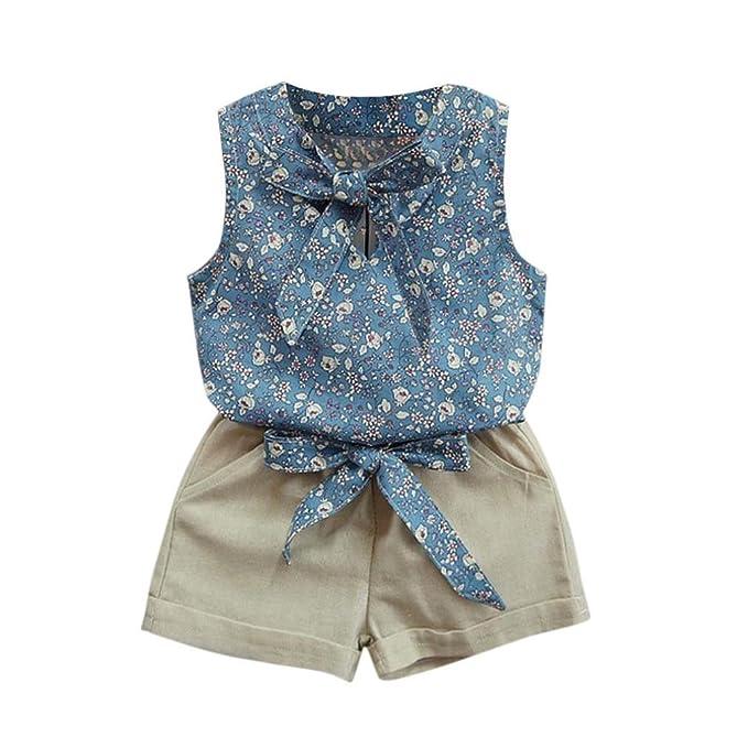 Btruely Herren Conjuntos de ropa,2018 Bebé niñas ropa formal bowknot chaleco + pantalones cortos