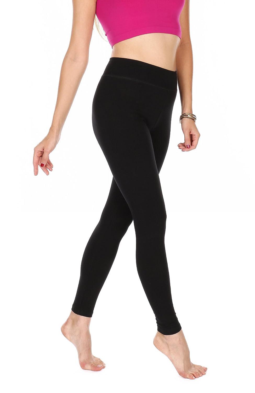 Amazon.com: Leggings elásticos de algodón suave de la marca ...