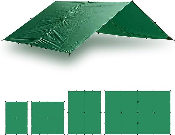4x3 m Gr/ünes Kit Aqua Quest Guide Tarp Kit 100/% wasserdichtes Ultraleichtes Ripstop-SilNylon Backpacking Regendach
