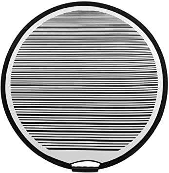 ITKS Circular Striped Flexible Foldable PDR Lined Light Reflector Board Dent Panel Portable Designed for Car Vehicle Door Scratch And Hail Damages Necessary Tools Car Tools (1PCS