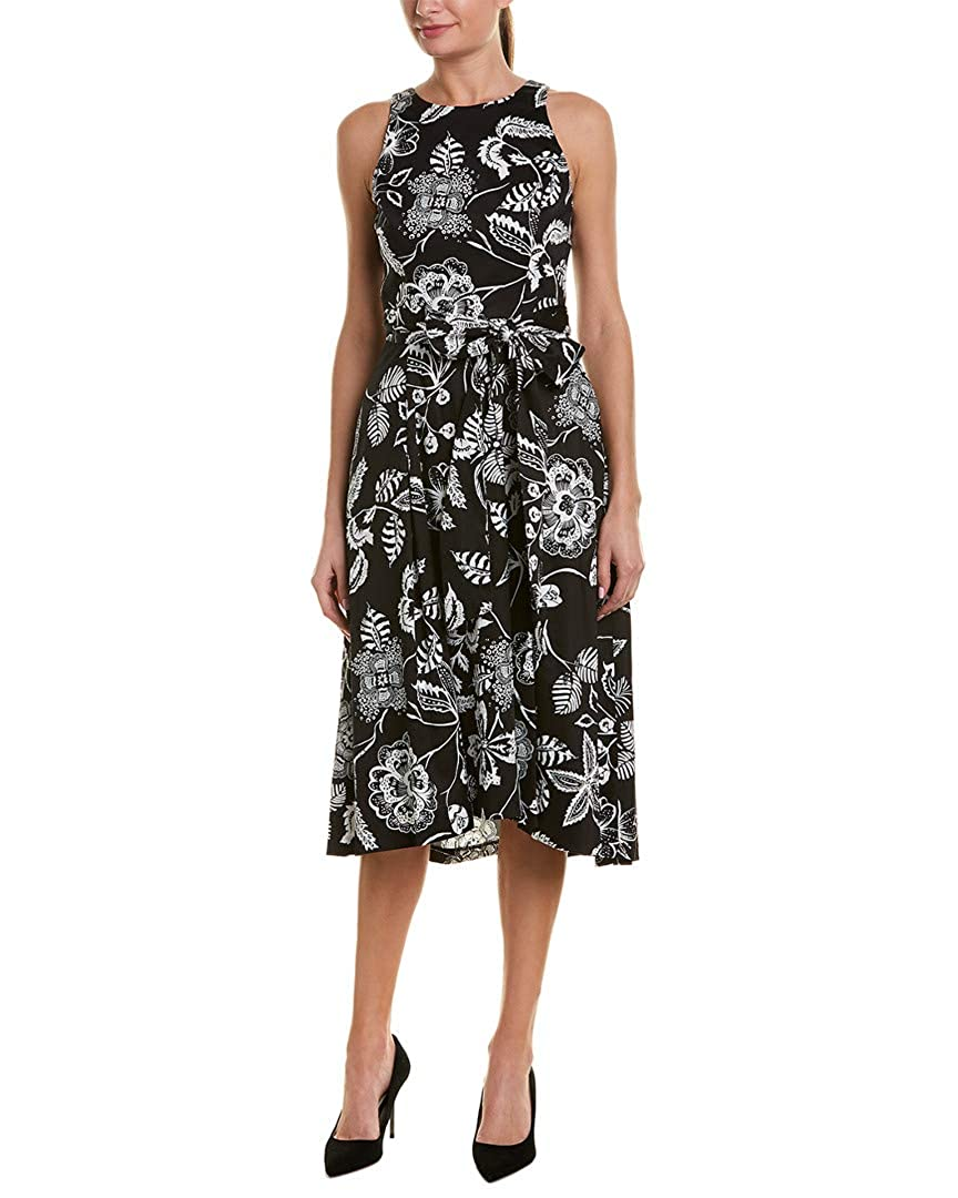 a4fdcbfe87ce Tahari by ASL Women's Sleeveless Printed Midi Fit and Flare Dress at Amazon  Women's Clothing store: