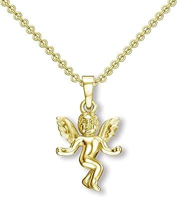 Engelanhänger Engel Kette Gold (Silber 925 hochwertig