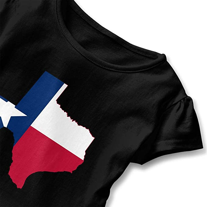 Zi7J9q-0 Short-Sleeve Texas State Thin Blue Line Flag T-Shirts for Kids 2-6T Fashion Blouse Clothes with Falbala