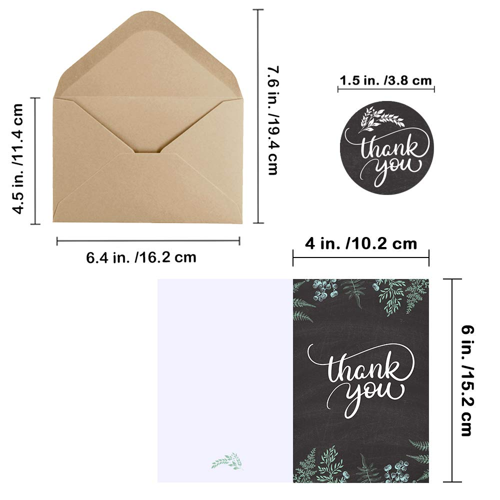 Amazon.com: Supla - Juego de 150 tarjetas de agradecimiento ...