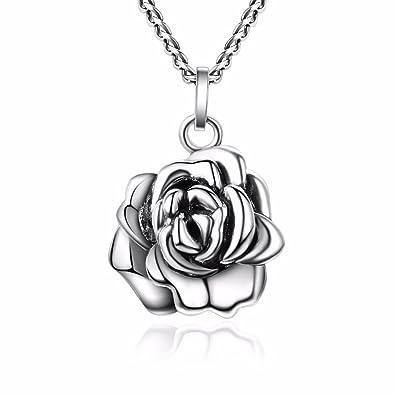Tardoo Bijoux Femmes Collier Revenir Au Passe Romantique Rose Fleur