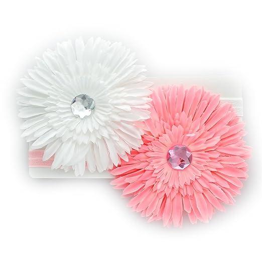 Amazon my lello toddlergirl flower headband spiky petals daisy my lello toddlergirl flower headband spiky petals daisy 2 pack pinkwhite mightylinksfo
