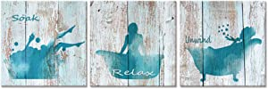 Visual Art Decor Pictures Silhouette of Woman Canvas Pritns for Bathroom Wall Decor Rustic Fashion Decoraiton Artwork Home Gifts
