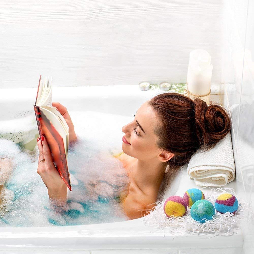Bombas de Baño - WENTS Bath Bombs Efervescentes Rejuvenece y Nutre el Cuerpo, Relajante Cuidado de la Piel 4 Scents x 100g: Amazon.es: Belleza