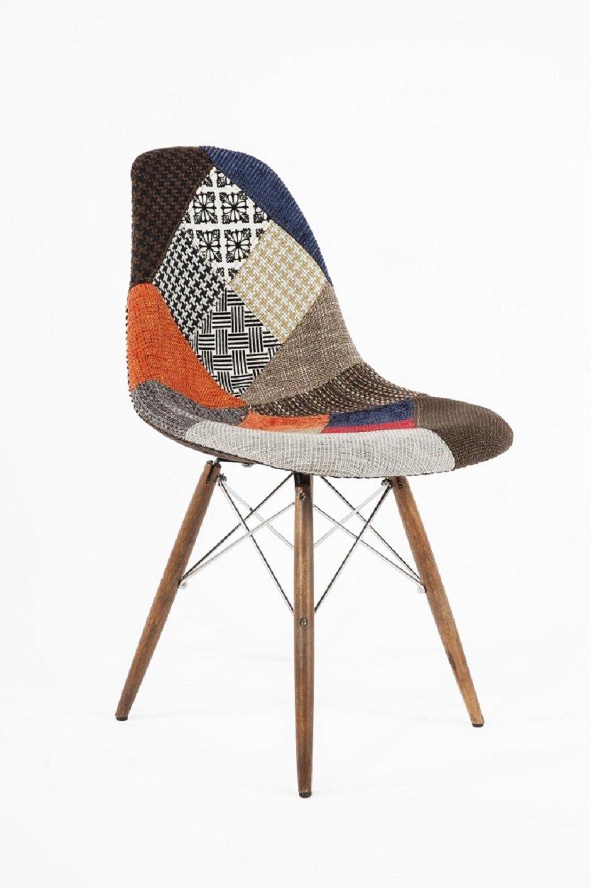 Stilnovo The Ansgar Side Chair Patchwork//Walnut