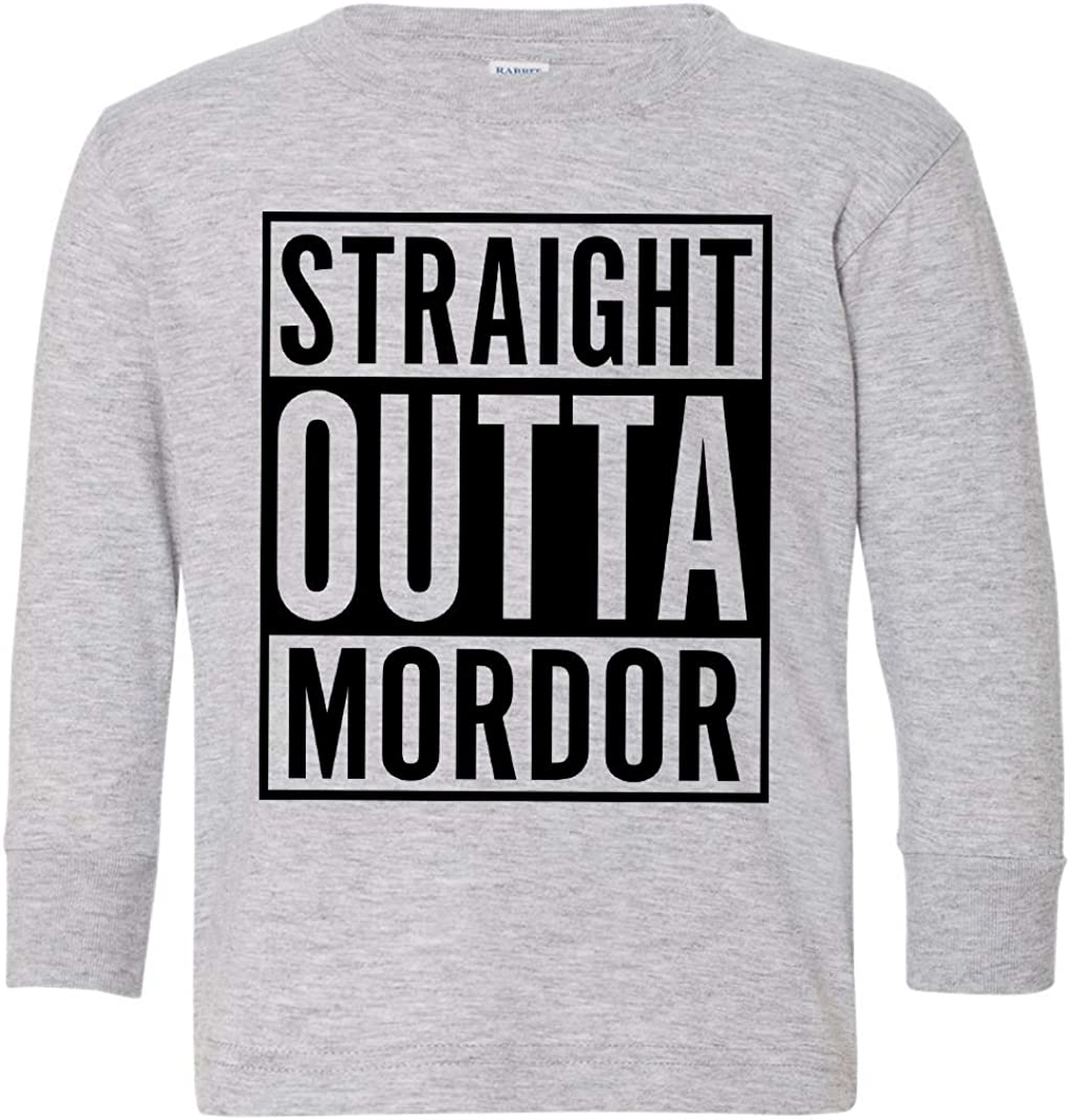 Tenacitee Toddlers Straight Outta Mordor Long Sleeve T-Shirt