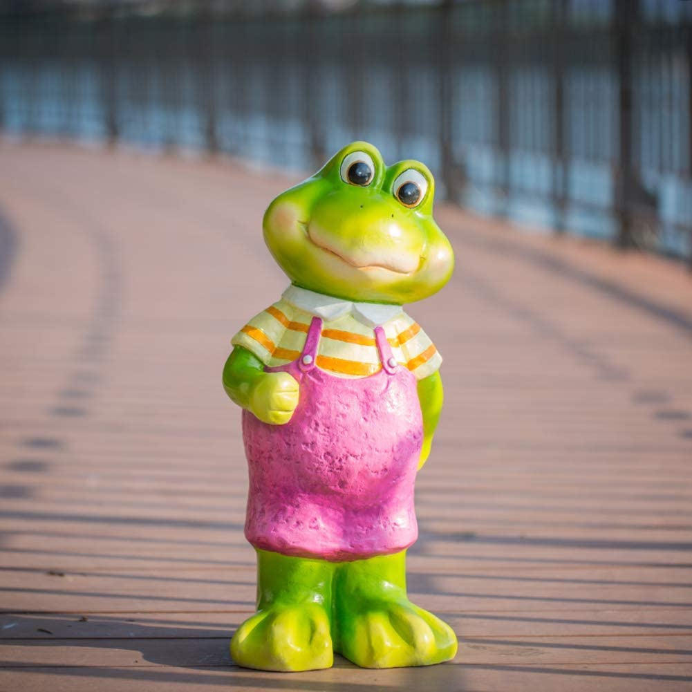 LIUSHI Cartoon Yoga Frog Sculpture,Creative Animal Outdoor Statues,Yard Ornaments Lawn Decor Garden Statue for Gift H 23x18x52cm
