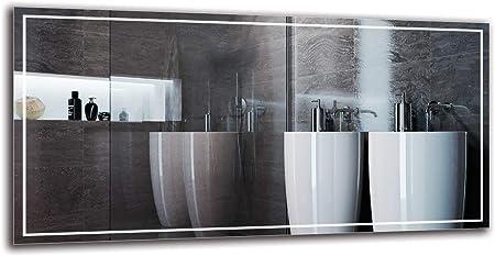 Specchio LED Premium Specchio per Bagno ARTTOR M1CP-24-40x40 Specchio a Muro Pronto per Essere Appeso Dimensioni dello Specchio 40x40 cm Specchio con Illuminazione Bianco Caldo 3000K