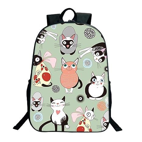 Mochila Escolar de Dibujos Animados de Animales Lindos Bolso Escolar Informal Mochila Impresa para Niños style21