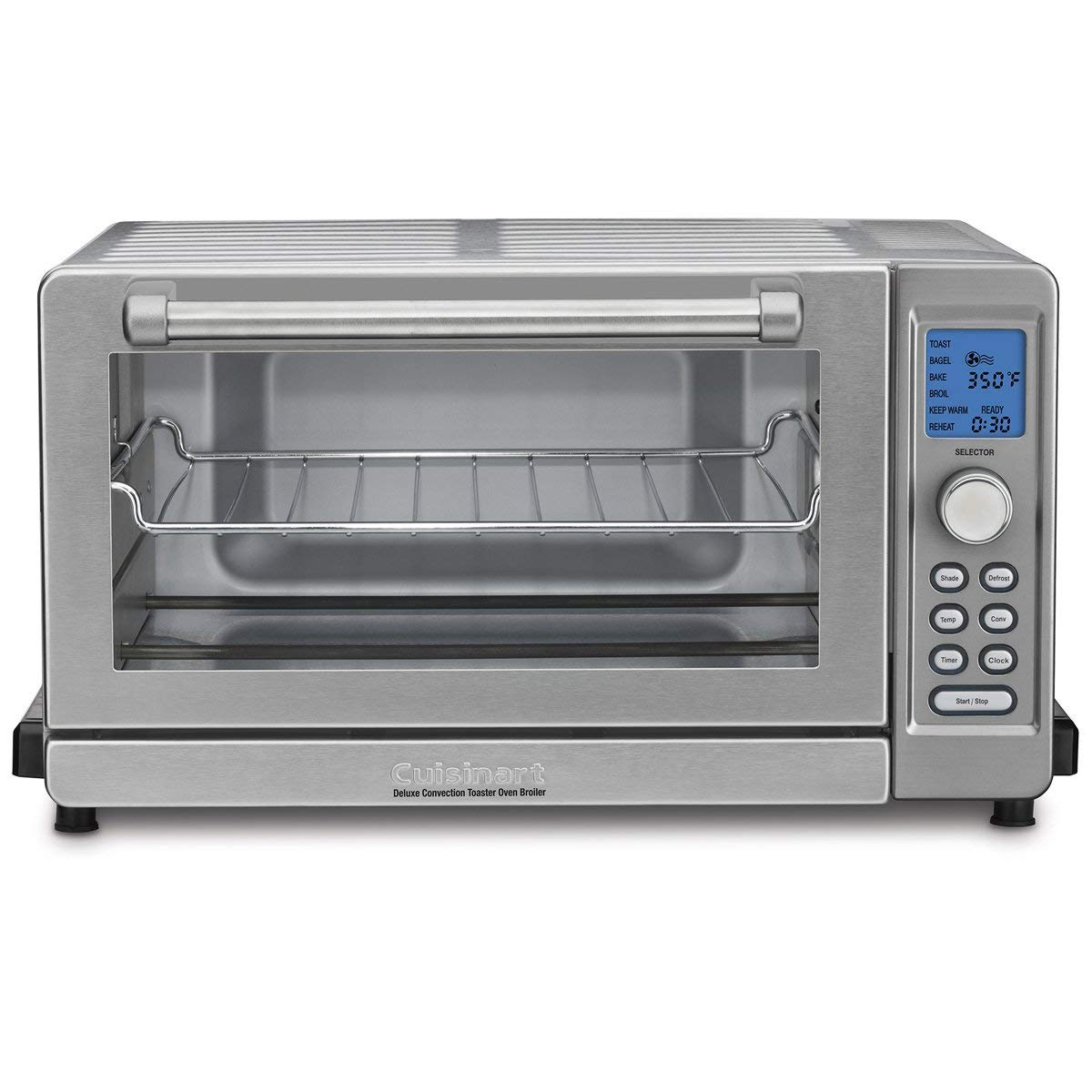 Cuisinart TOB-135 Deluxe Convection Toaster Oven Broiler, Brushed Stainless - Refurbished w/Extended Warranty