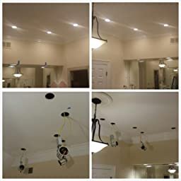 6 Pieces 4 Remodel LED Can Air Tight IC Housing LED Recessed Lighting