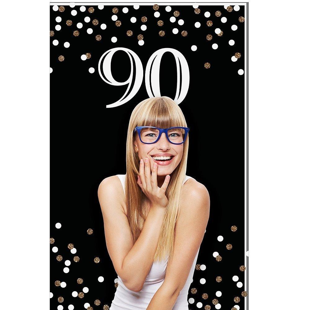 Adult 90th Birthday - Gold - Birthday Party Photo Booth Backdrop - 36 x 60 [並行輸入品]   B074VBDHDW