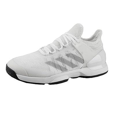 sports shoes 3a396 c17c5 Adizero Ubersonic 2 All Court Shoe Men - White, Silver - Mens - 9  Amazon.co.uk Shoes  Bags