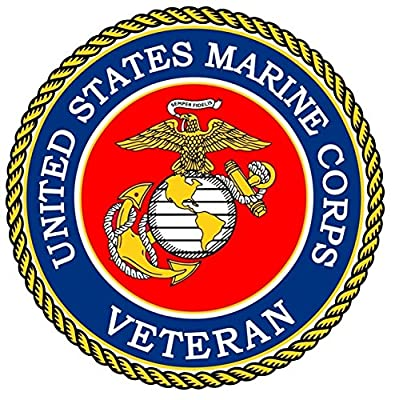 "1Pc Grandiose Fashionable United States Marine Corps Veteran Sticker Sign Outdoor Decals Windows Size 5"" x 5"""