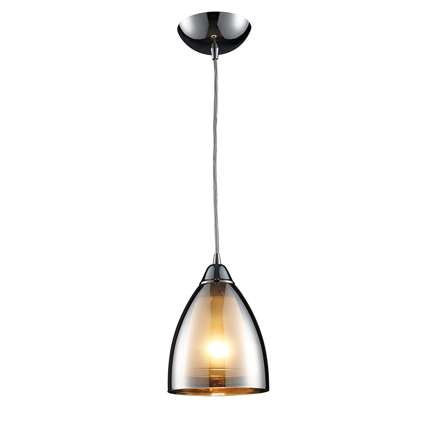 Elk 100731 reflections 1 light pendant in polished chrome ceiling elk 100731 reflections 1 light pendant in polished chrome ceiling pendant fixtures amazon aloadofball Image collections