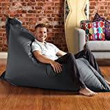 BAZAAR BAG - Slate Grey, Giant BeanBag - 180cm x 140cm, Indoor Outdoor Garden Floor Cushion Bean Bags