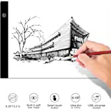 Portable Light Pad Led A4 Light Box Thin Tracing Board, Artcraft Tablet with 3 Brightness Settings for Diamond Painting, Tracing, Artists to Transfer Drawing, Artists X-ray, Sketching, Animation