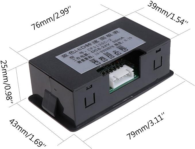 Bilinli 4 Digitaler Led Drehzahlmesser Drehzahlmesser Näherungsschalter Sensor Npn 12v 9999rpm Küche Haushalt