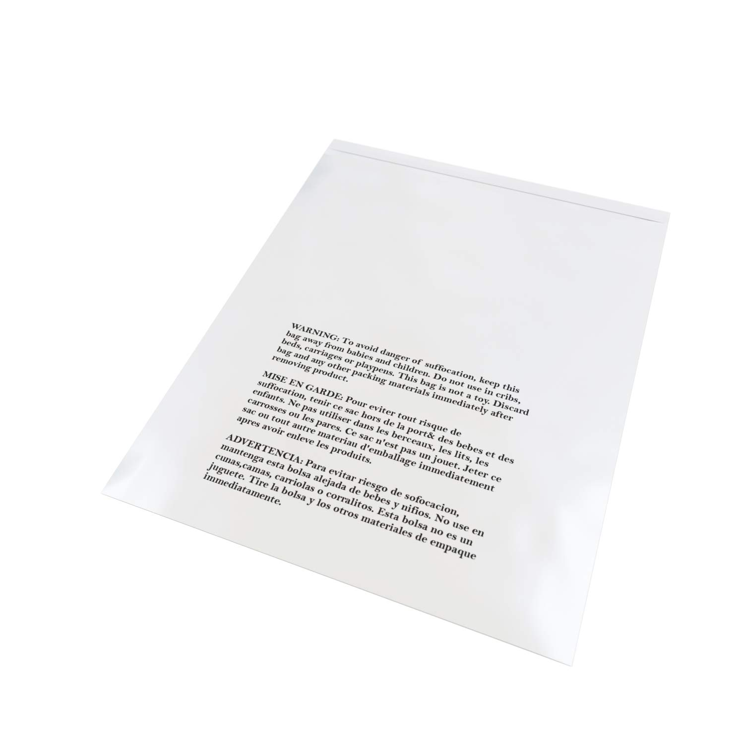 Amazon.com: Retail Supply Co Clear Poly Bags with Suffocation Warning - Multiple Size Options Available - (20x24 Extra Strong Seal): Office Products