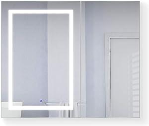 0ecc3cfb87d6 3x Mag mirror + Outlets USB ports + Adjustable Glass Shelves Includes Dimmer  + Defogger