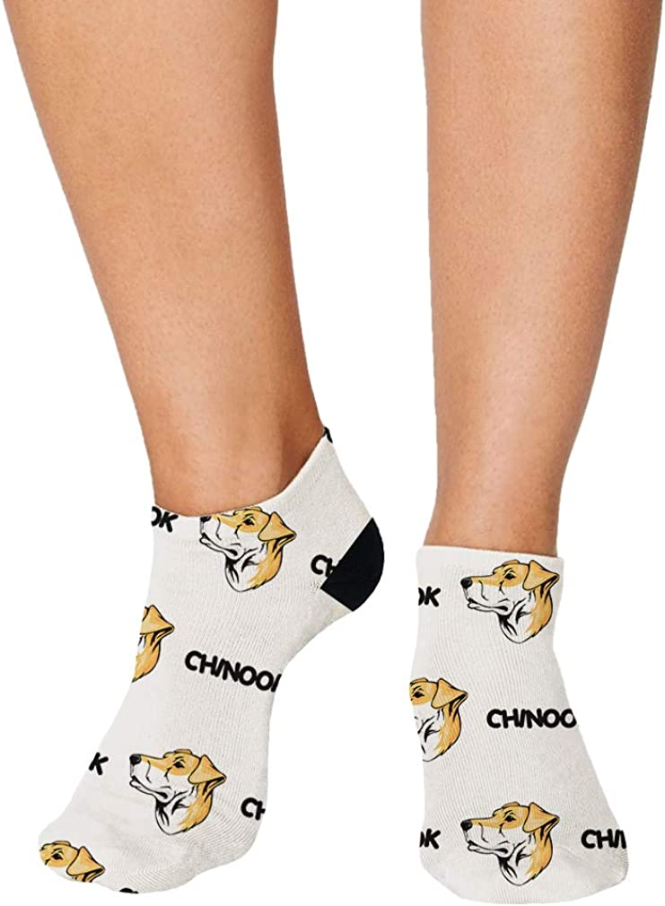 Chinook Dog Breed Pattern #1 Men-Women Adult Ankle Socks Crazy Novelty Socks
