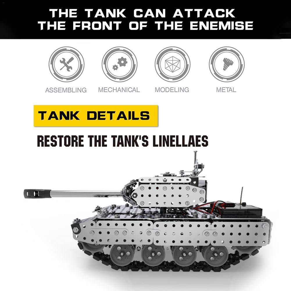 TARTIERY RC Tank With Radio Remote Control Rotating Turret And Recoil Action When Cannon Artillery Shoots Remote Control Panzer Tank