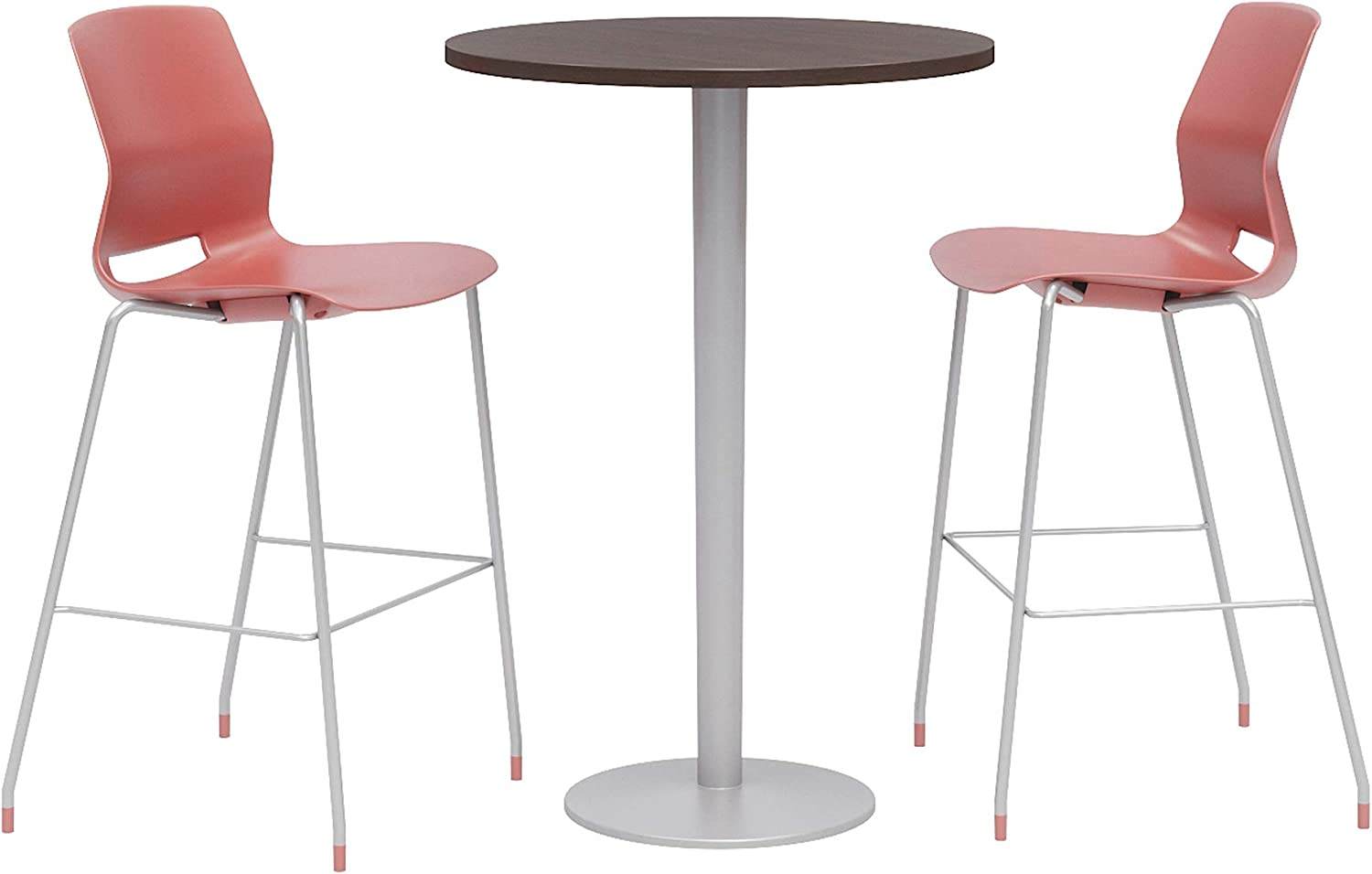 Olio Designs Dining Room Furniture, Espresso Table, Coral Stools
