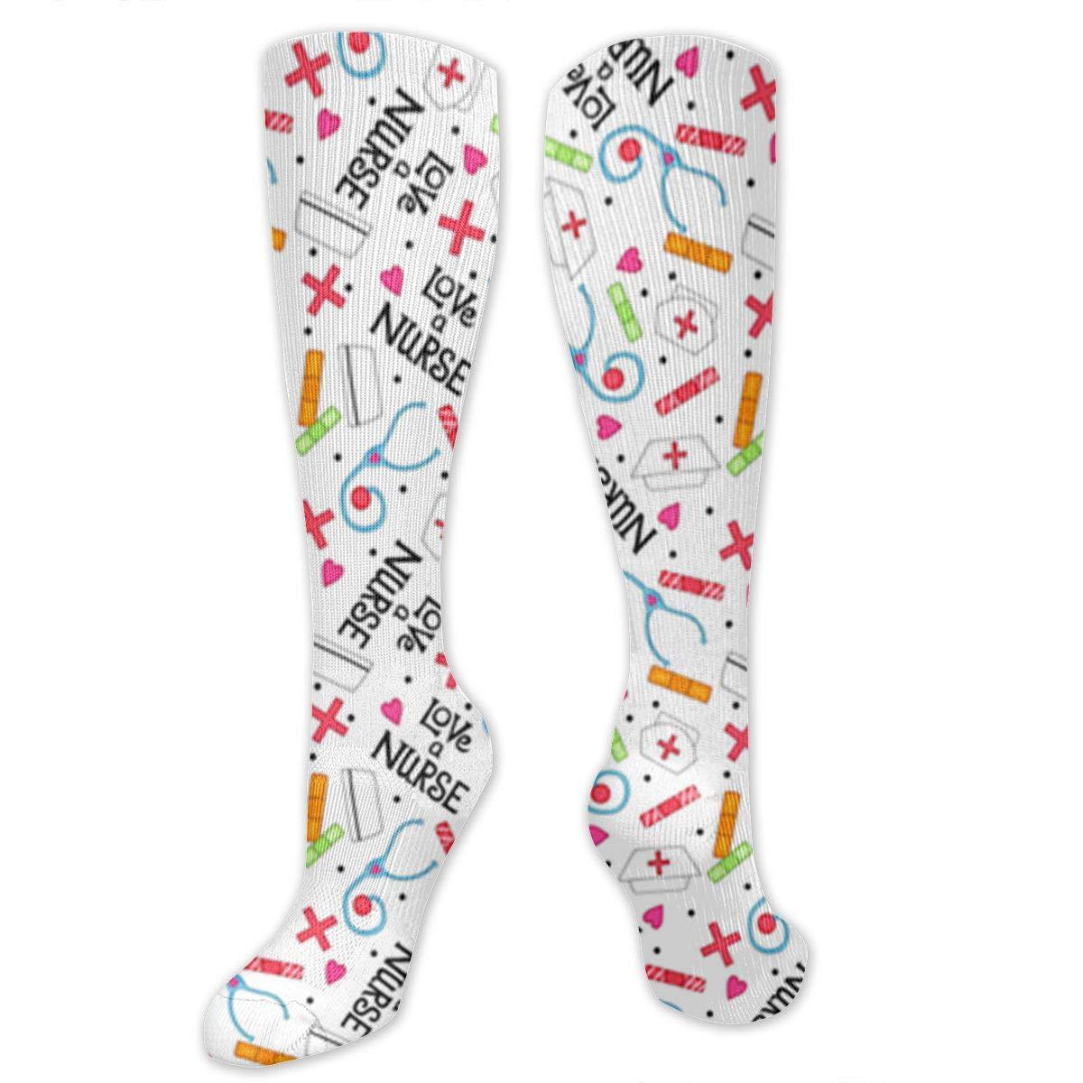 Willbegood99 Nurse Whimsy Mens Fun Dress Socks Colorful Pattened Novelty Mid-Calf Crew Socks Premium Cotton Vibrant Art Socks