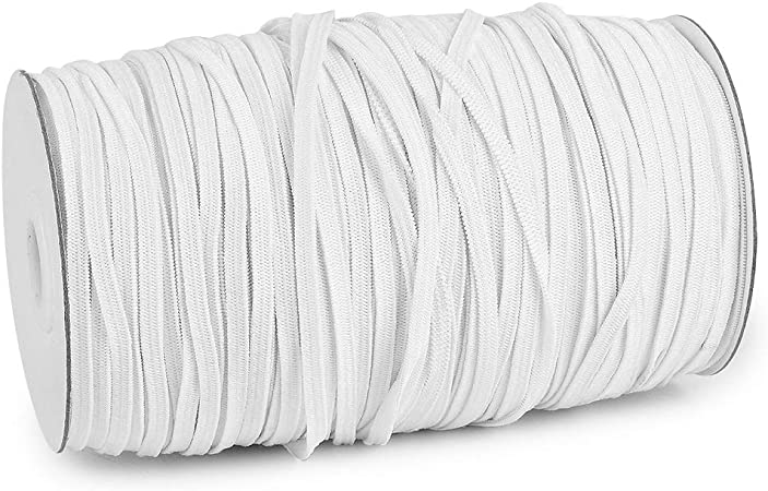 Strap High Elasticity Sewing Craft DIY Mask and Bedspread Cuff Braided Elastic Rope Flex Fabrics 100 Yards Elastic Band for Sewing 1//2 inch Black Bungee for Handmade Making Cord