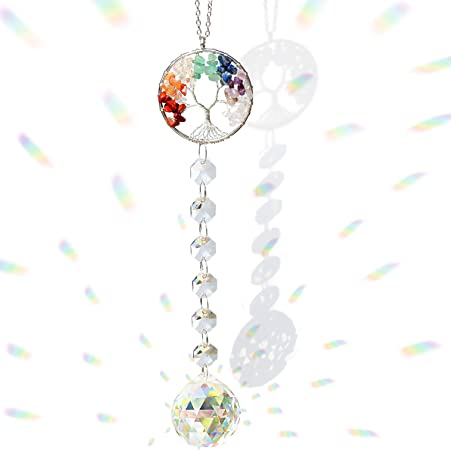 Gifts Crystal Ball Home Decor Glass Faceted Chandelier Hanging Pendant