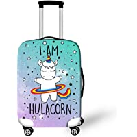 OSVINO Cartoon Travel Luggage Cover Cute Unicorn Suitcase Protector Wear-Resistant Washable Fits 18-28 Inches