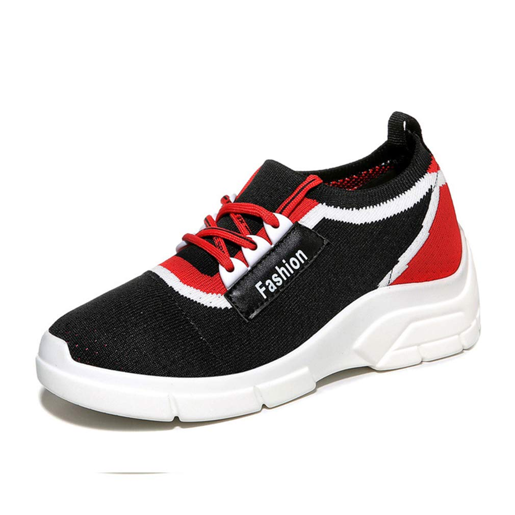 A Women's Sneakers New 2019 Sports shoes Mesh Breathable Running shoes Lace Up Low-Top Casual shoes Athletic shoes,B,38