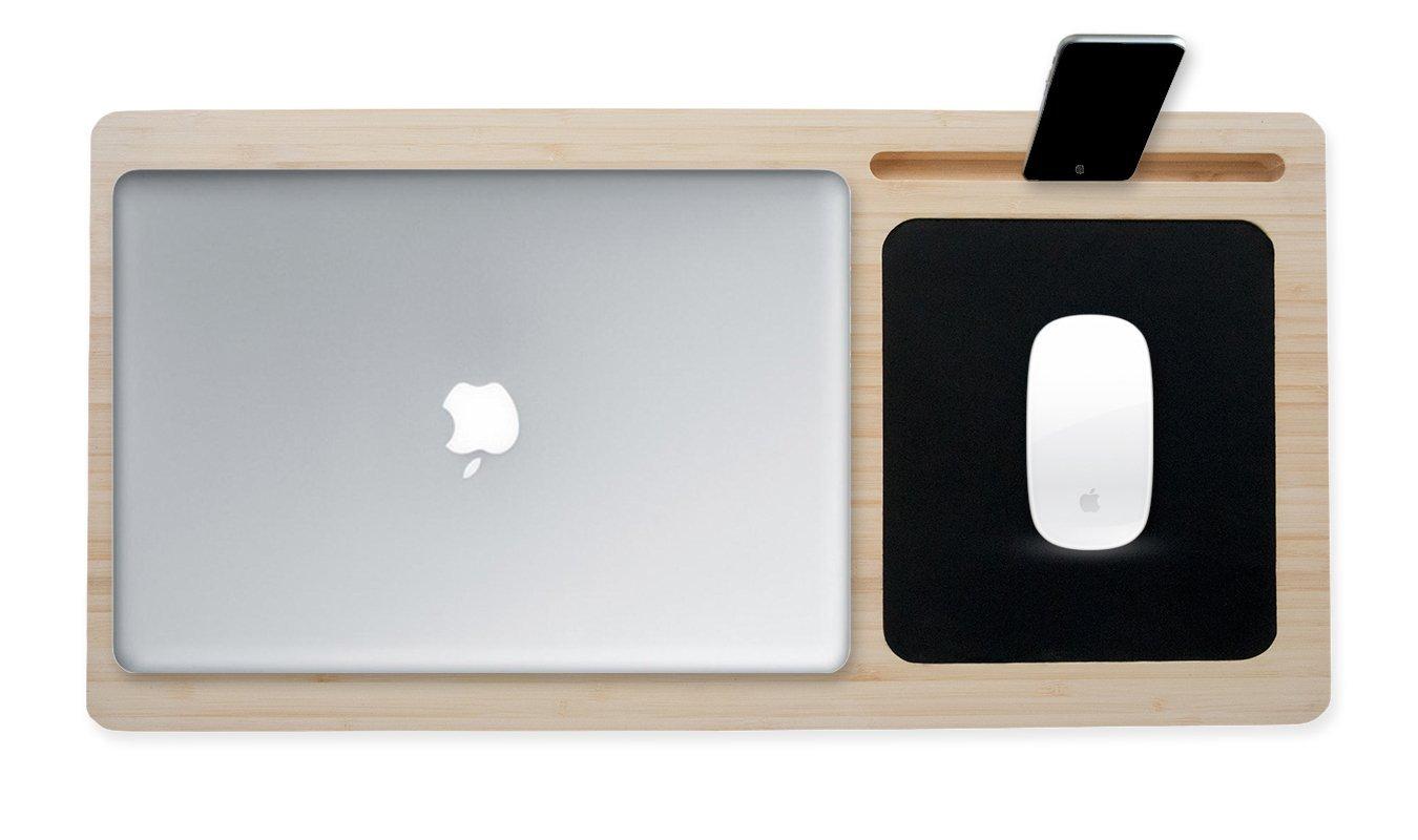tappetino per mouse pad di raffreddamento Eco-friendly lap Desk laptop lap tray ✮ ✮ stabilit/à e comfort Phone /& tablet Holder 38,1/cm manico in legno di vassoio Lapdesk materasso per portatile 13