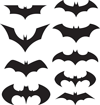Batman Logo Sticker Decal Pack Of 9 Black Wall Decor Stickers