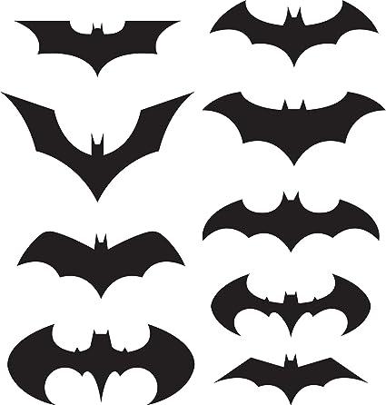 batman logo sticker decal pack of 9 black wall decor stickers