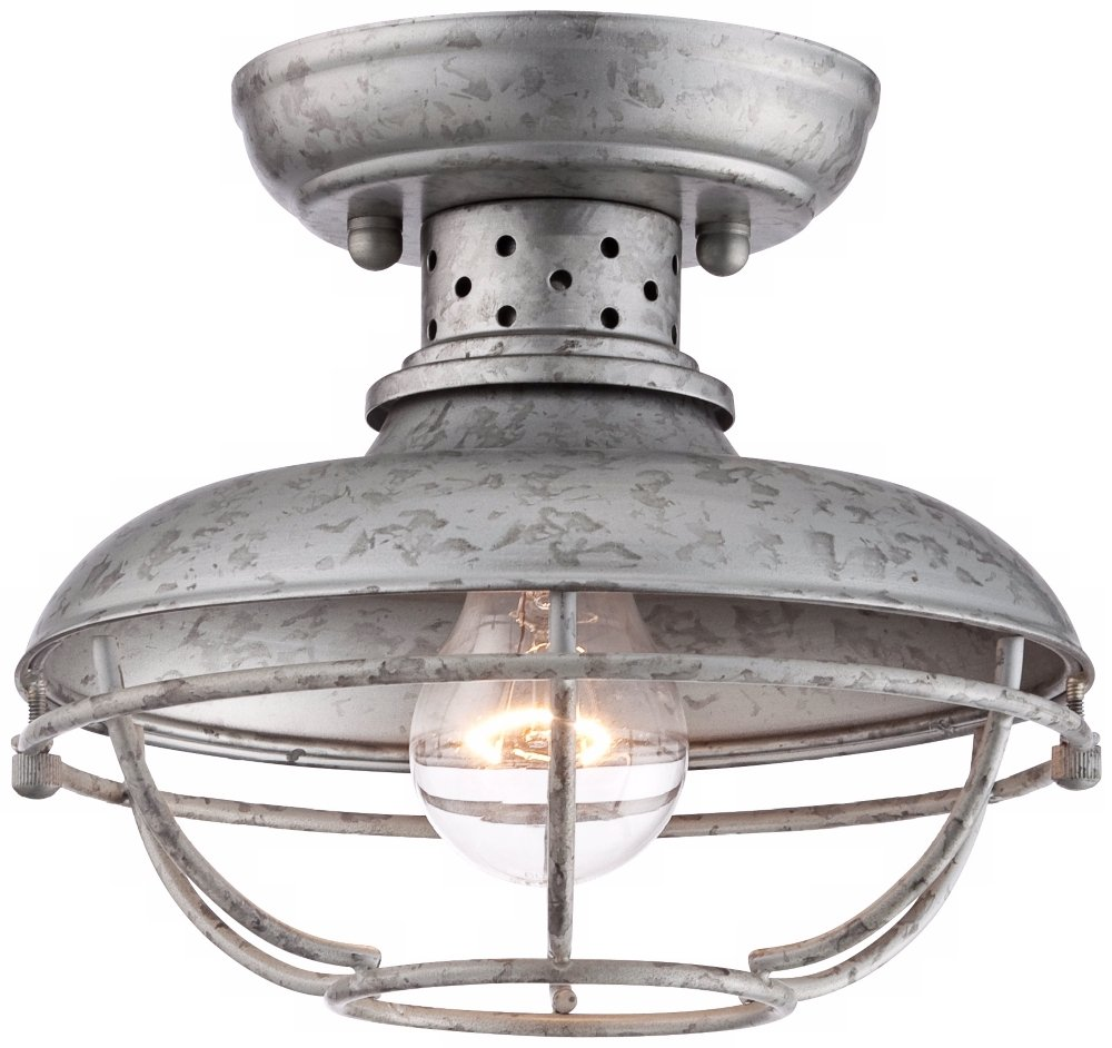 Franklin Park 8 1/2  Wide Galvanized Outdoor Ceiling Light - - Amazon.com  sc 1 st  Amazon.com & Franklin Park 8 1/2