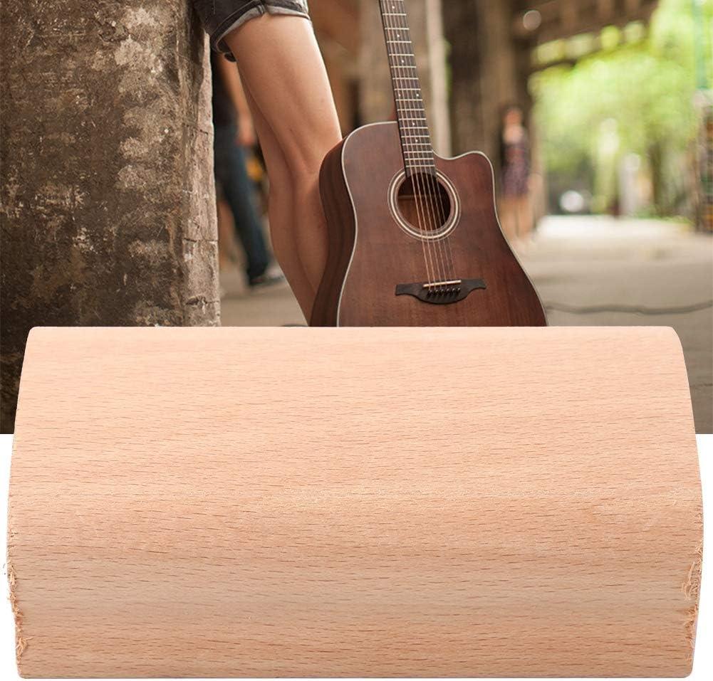 7.25 inches Guitar Instrument Sanding Block Wooden Radius Sanding Blocks Fret Leveling Block with Abrasive Paper