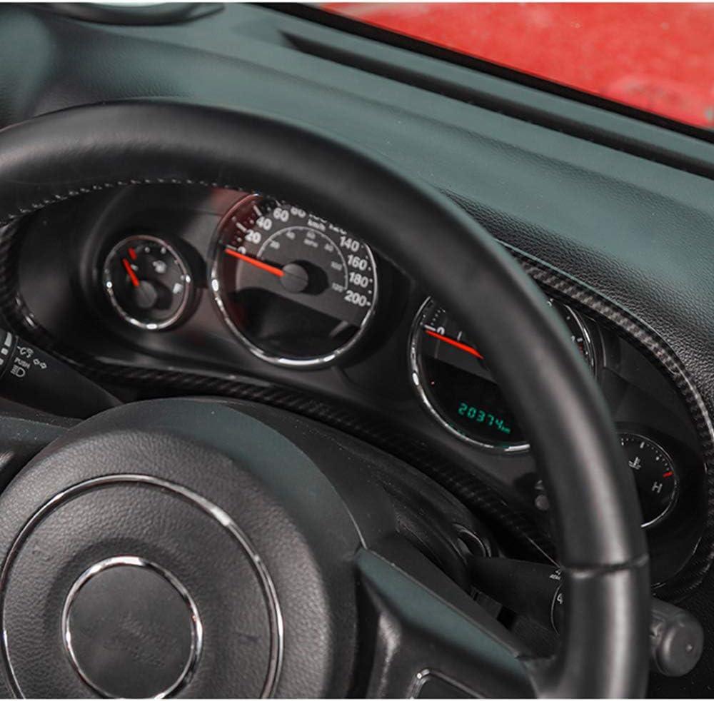 RT-TCZ Carbon Fiber Dashboard Decoration Interior Trim Kit Accessories for Jeep Wrangler JK JKU 2011-2017